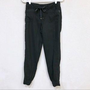 White House Black Market Black Linen Jogger Pants